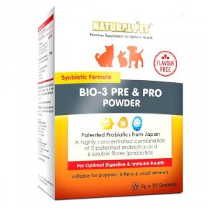 Natural Pet Bio-3 Pre & Pro Powder 30 Sachet [NP006336]