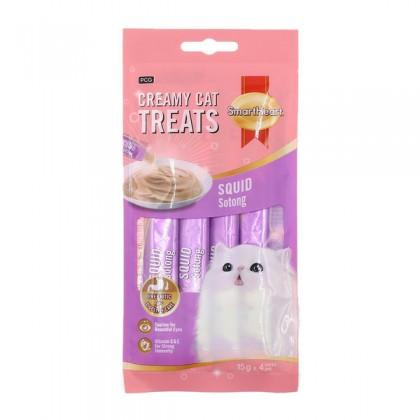 Smart Heart Creamy Cat Treat - Squid Flavor 60g