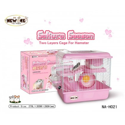 New Age Hamster Cage Two Layer Sakura [NA-H021] 27L x 20.5W x 28H cm