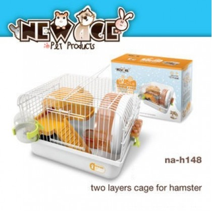 New Age Hamster Cage Two layer Cage Yellow (NA-H148)