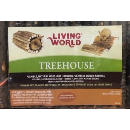 Living World Treehouse Real Wood Logs Large [61409]