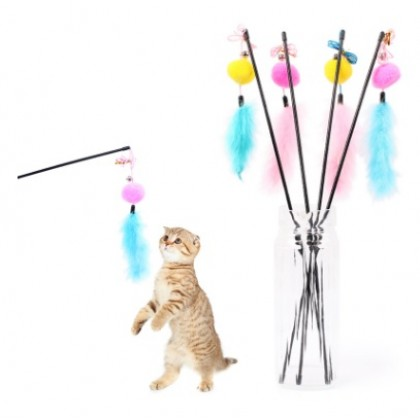 Cat Dangler: Goose Feather with Toy [014422]