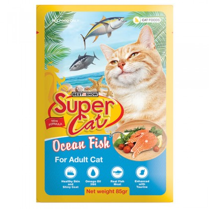 Super Cat Pouch Adult Cat Ocean Fish 85g