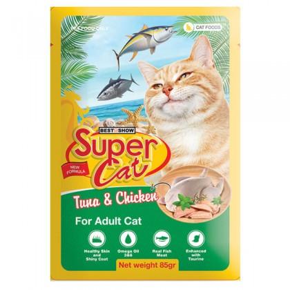 Super Cat Pouch Adult Cat Tuna & Chicken 85g
