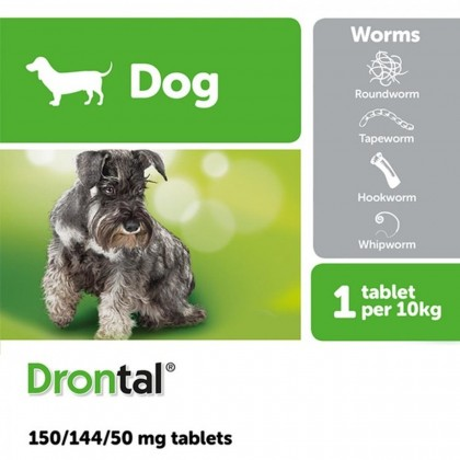 Drontal Plus Flavour 1 tab for Dogs