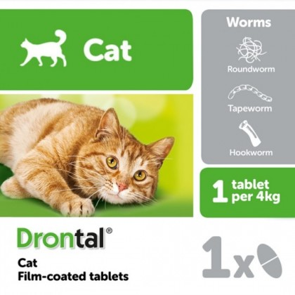Drontal Tablets for Cats 1 tablet
